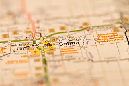 salina city in kansas area map