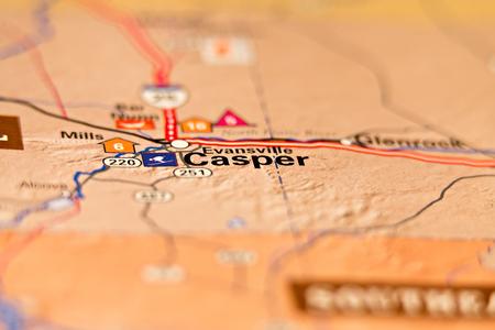 casper wyoming usa area map