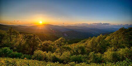 appalachian: Blue Ridge Parkway summer Appalachian Mountains Sunset