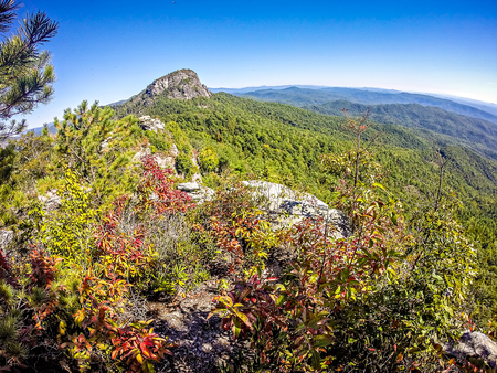 table mountain national park: landscape views on top of table rock mountain nc Stock Photo