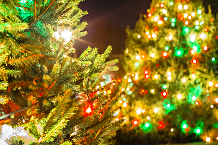 outdoor christmas decorations at christmas town usa stock photo 72852177