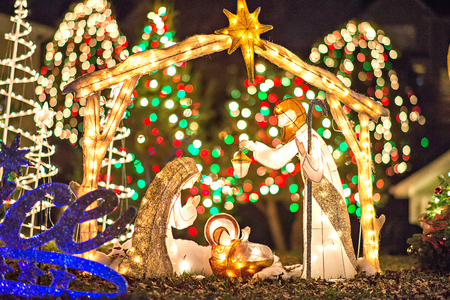 outdoor christmas decorations at christmas town usa stock photo 72852183