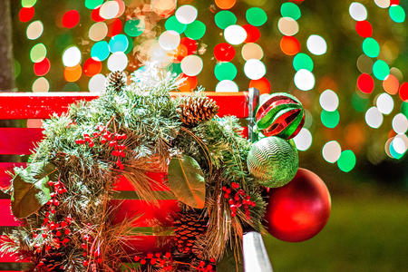 outdoor christmas decorations at christmas town usa stock photo 72852198