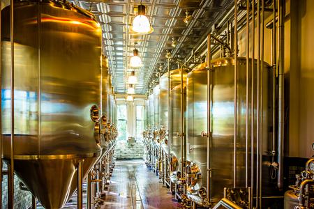 beer distillery brewing equipment Stock Photo