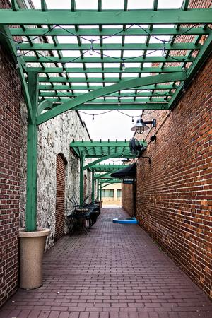 historic old town alley entrance Standard-Bild