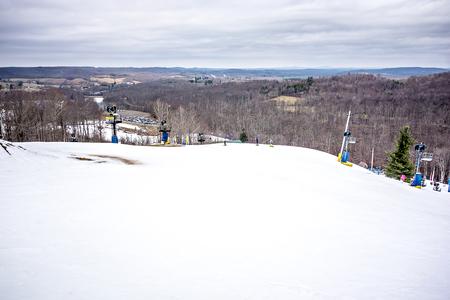 ski resort with landscape over the mountains Standard-Bild