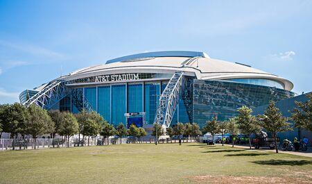 retractable: April 2017 Arlington Texas - AT&T NFLcowboys  football stadium on a sunny day Editorial
