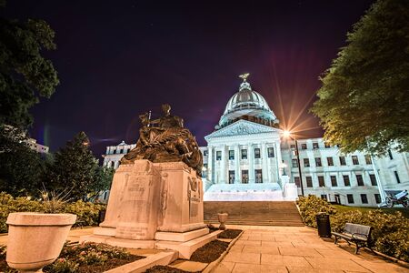 state of mississippi state capitol building in Jackson downtown Stock Photo