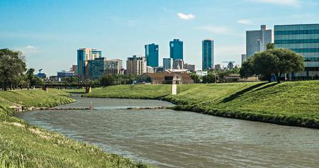 フォート ワース テキサス街のスカイラインとダウンタウン 写真素材