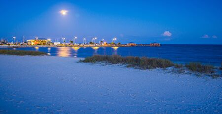 beach scenes on west boulevard in pass christian and henderson point Stock Photo