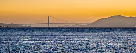 alcatraz: san francisco and alcatraz scenery at sunset Stock Photo