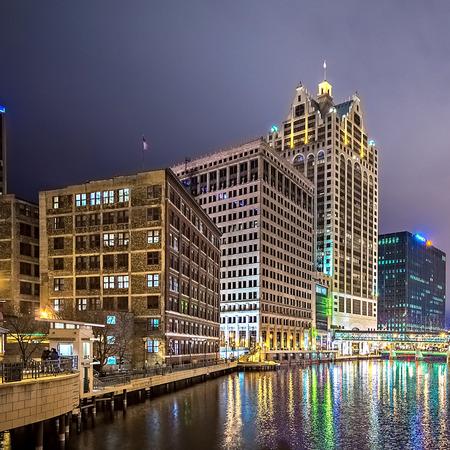 Milwaukee wisconcin city and street scenes