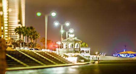 night scenes around corpus christi texas downtown Stock Photo