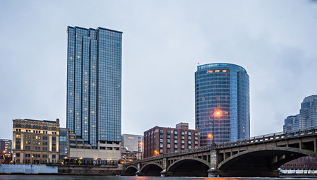 grand rapids michigan city skyline and street scenes Editorial