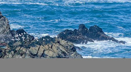 Soberanes and cliffs on pacific ocean coast california Stock Photo