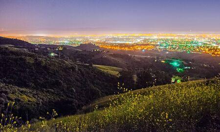 Vue sur la montagne de San Jose en Californie