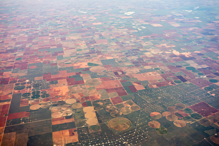 American farms and landscape from an airplane Stock fotó