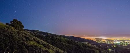vue sur la montagne de san jose californie Banque d'images
