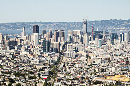 San Francisco downtown skyline in Californië