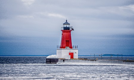 Ann Arbor lighthouse in Michigan Stock Photo