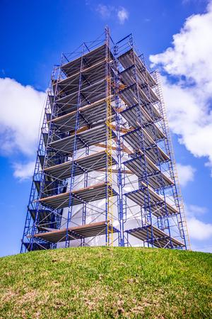 Lighthouse near Padre Island Texas under construction
