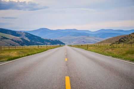 road through flathead  reservation montana