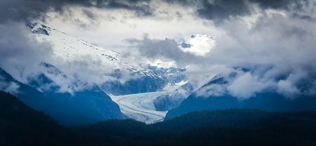 glaciers seen from mud bay on admiralty island