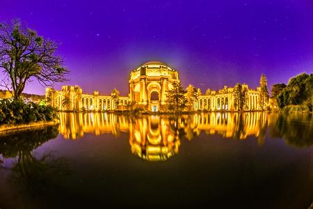 mirror image: san francisco exploratorium and palace of fine arts