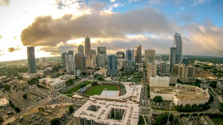 carolina: charlotte north carolina city skyline