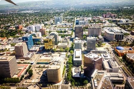 flying over san jose california Editorial