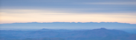 beautiful pastel colors sunrise in blue ridge mountains