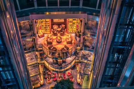 cruise ship lobby atrium on celebrity cruises