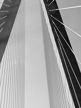 The Cooper River Bridge - Charleston, South Carolina Stock Photo