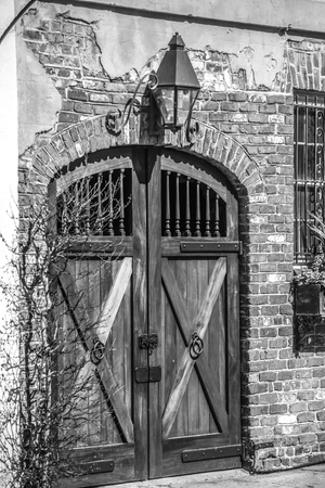 historic charleston south carolina downtown and architetural details Stock Photo