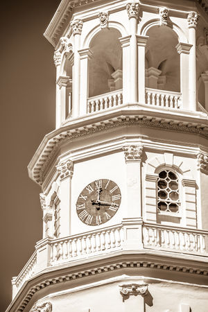 Historic church steeple in charleston south carolina historic district Imagens