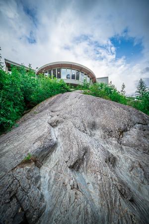 scenery around mendenhall glacier park in juneau alaska