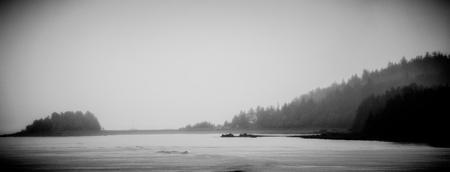 foggy mountain and waterscape in alaskan summer 版權商用圖片 - 101333215