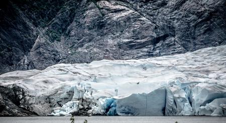 Panoramic view of Mendenhall Glacier Juneau Alaska 版權商用圖片