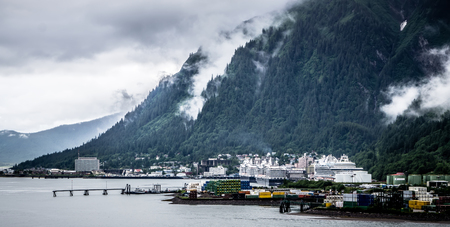 juneau alaska usa northern town and scenery 스톡 콘텐츠