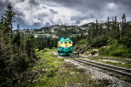 Scenic train from Skagway to White Pass Alaska