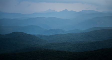 blue ridge mountains nature in summer