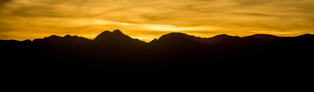 sunset over red rock canyon near las vegas nevada