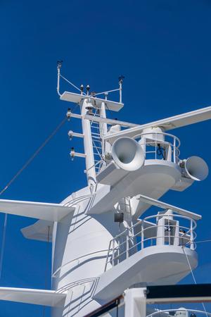 cruis ship close up of ship deck elements Stok Fotoğraf