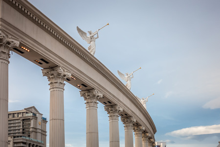 caesars palas architecture n las vegas nevada Stock Photo