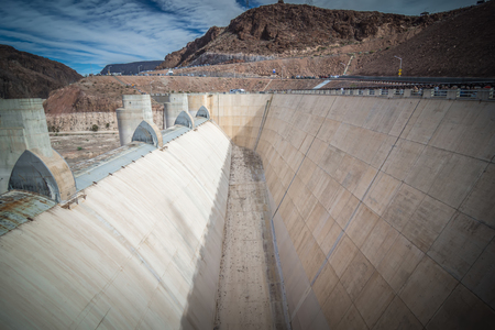 wandering around hoover dam on lake mead in nevada and arizona