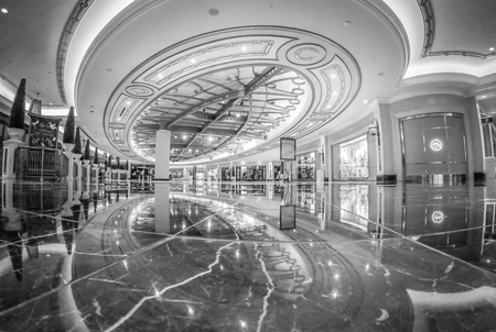 palazzo hotel lobby and ahlls in las vegas nevada Banque d'images - 112497652