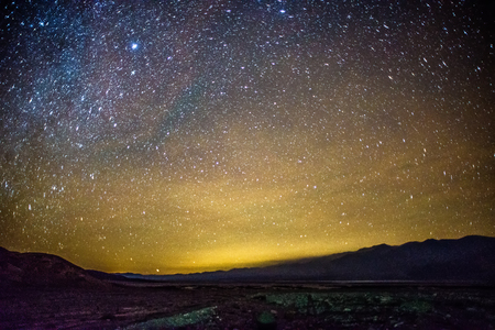 Night time and dark sky over death valley national park Archivio Fotografico