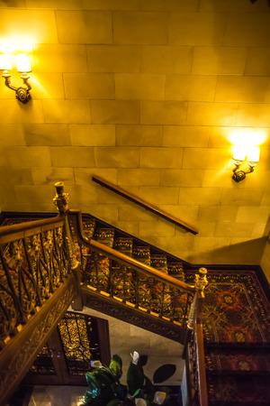 Luxury histrionic hotel lobby interior Publikacyjne