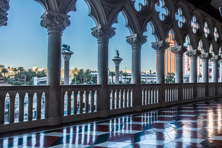 architectural details in luxurious hotels in las vegas nevada