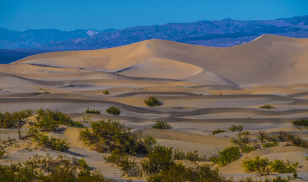 death valley national park sand dunes at sunset Banque d'images - 119981380